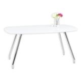 Tisch HANNAH - weiß - Hochglanz